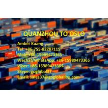 Fujian Quanzhou Sea Freight to Norway Oslo