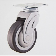 Swivel plate plastic medical caster wheel