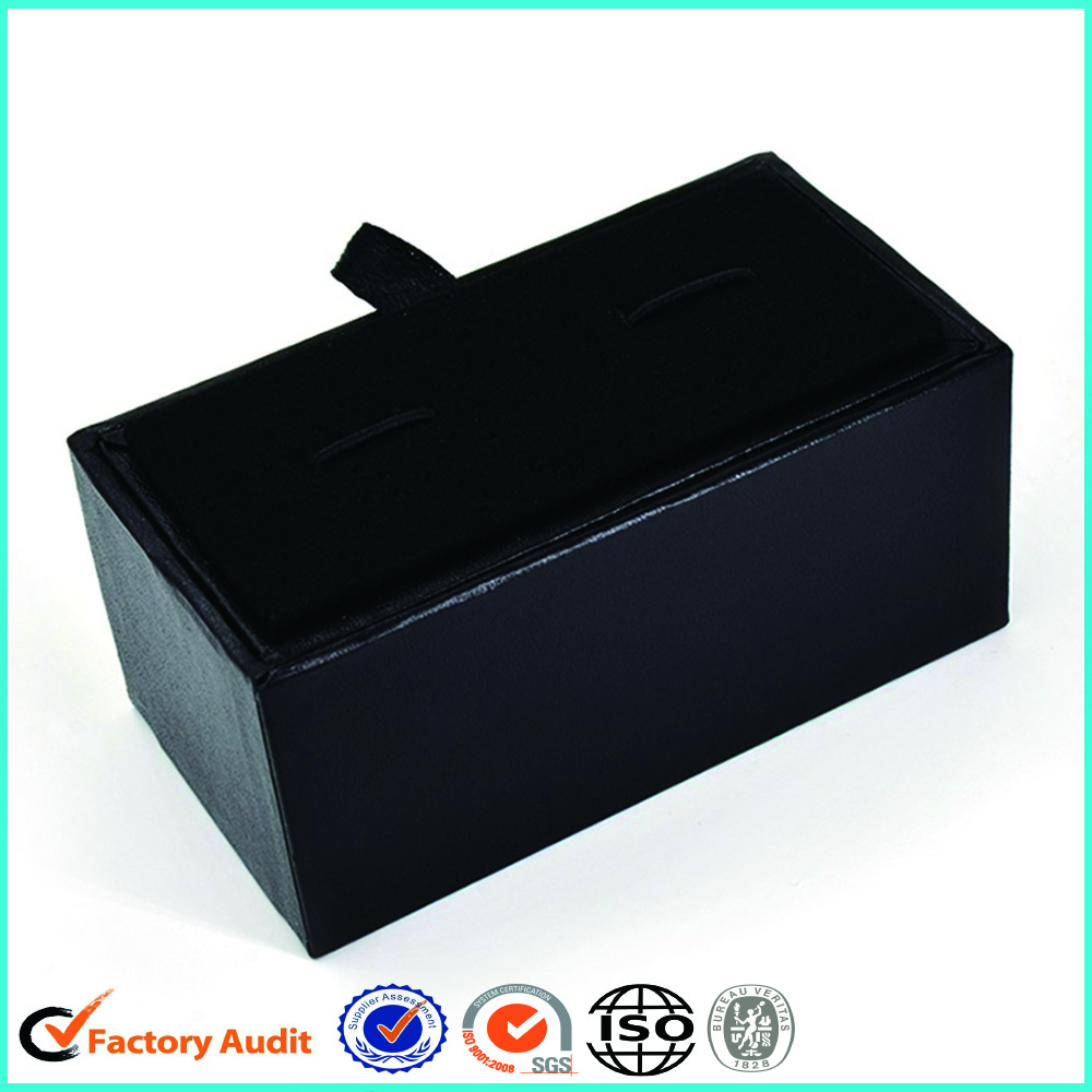 Black Cardboard Cufflink And Tie Pin Gift Boxes