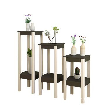 Factory DIY wooden plant garden pot shelf for flower planting