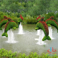 Synthetic green sculpture PE material for decoration