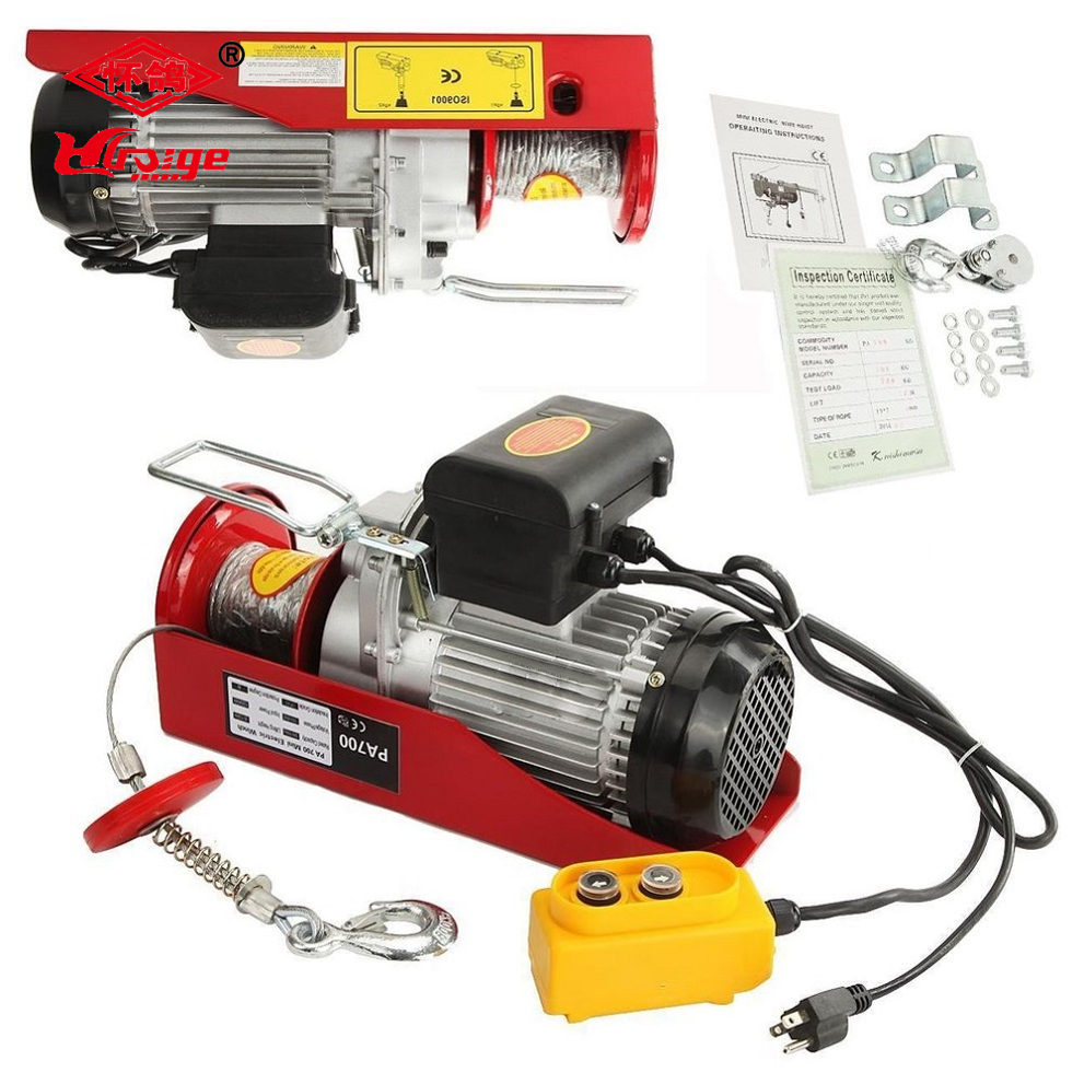 Mini hoist Winch 500/2000kg wire rope cable hoist