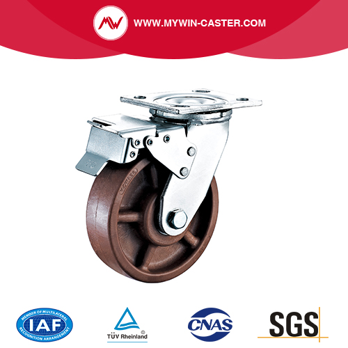 High Temperature Caster with Side Brake