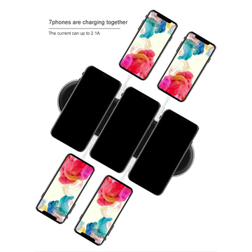 Multi QI Wireless Charger Pad FCC CE ROHS