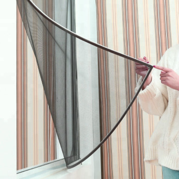 DIY flexible magnetic window screen