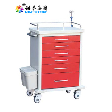 Hospital color steel rescue cart