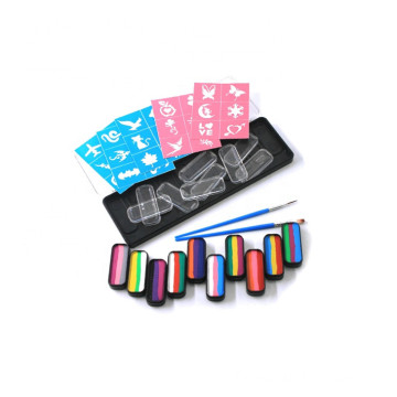 face paint rainbow color pallet set