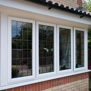 2019 upvc casement window with grid factory sale