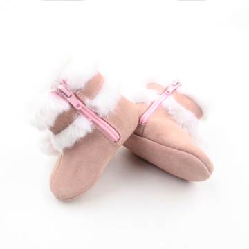 Cute Plush Ball Snow Baby Girl Boots