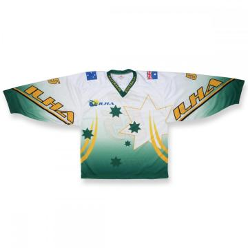 100% polyester Embroidered logo ice Hockey Jersey For Fans