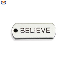 Custom logo metal plate for clothes