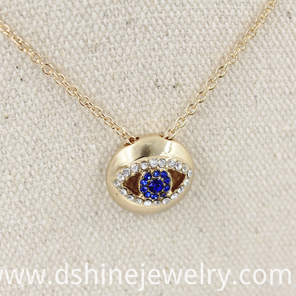 Diamond Evil Eye Necklae