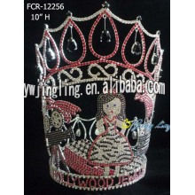 Crystal full round pageant crowns