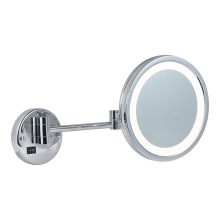 Adjustable round wall makeup mirror
