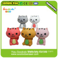 3D cute cat cartoon eraser for kids