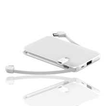 Eingebaute Micro-USB-Typ-C-Kabel Power Bank