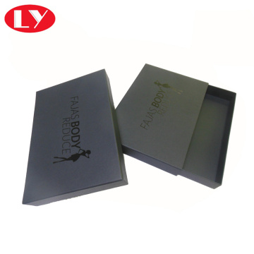 I-Luxury Matte Black Paper Drawer Box Box