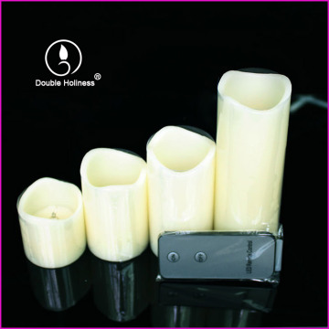 paraffin wax materials electric led tall pillar candles