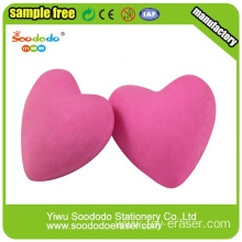 Valentine's Day Pink Heart Love Shapes Erasers
