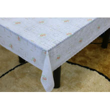 Printed pvc runner lace tablecloth by roll