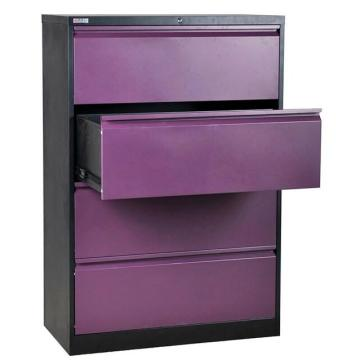 Lateral Four Drawer Storage Metal Filing Cabinet