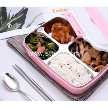 304 Stainless Steel Food Lunch Box Student Box