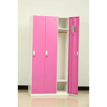 Metal 3 door locker for school