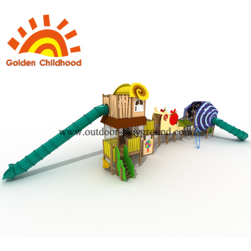 Double Tube Playhouse Outdoor Playground Equipment