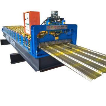 Stainless trapezoidal profile sheetting roll forming machine