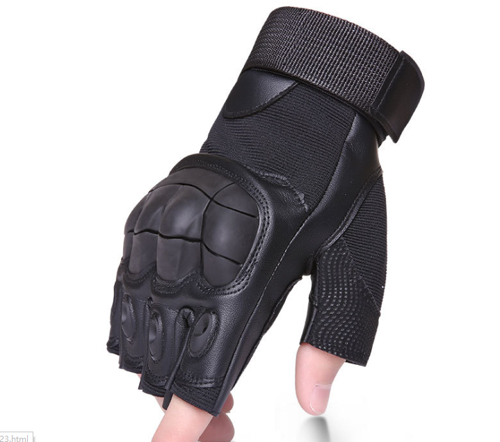 Half Finger Skid Protection Gloves Black