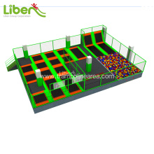 Create outdoor tent trampoline park