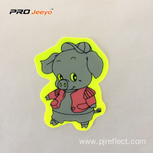 Reflective Adhesive Pvc Pig Shape Stickers For Children