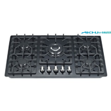 Tempered Glass Built In 5 Burners Gas Hob