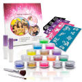 Professional Glitter Tattoo Stencils Glue Kit for Kids