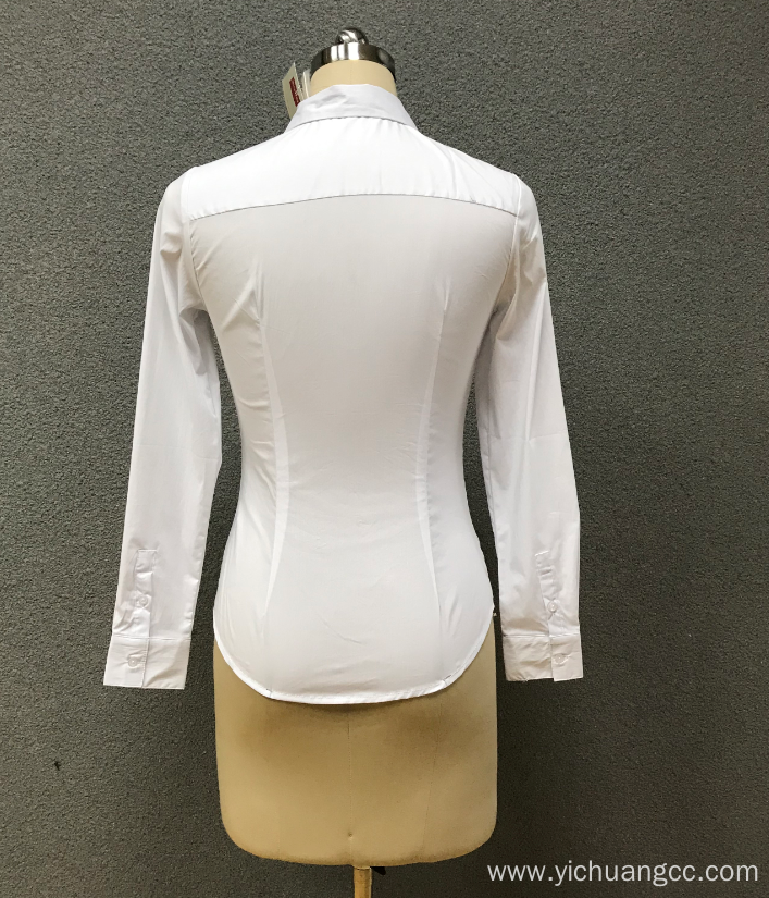 women`s white long sleeve shirt