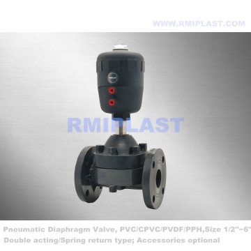 PVC Diaphragm Valve Pneumatic Spring Return