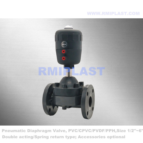 Plastic Diaphragm Valve Pneumatic Actuatored