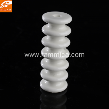 Alumina ceramic with glazing for porous alumina ceramic