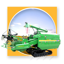rice harvester with low vibration and low noise
