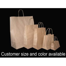 OEM manufacturer custom for Brown Paper Bag With Twisted Handle Twist handle Brown Paper Bag export to Macedonia Importers