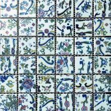 White Base Artistical Ceramic Mosaic Tile