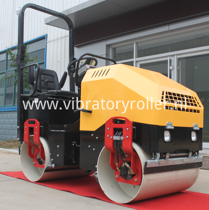 2ton double drum roller