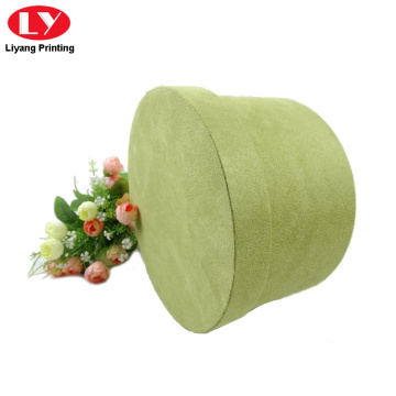 I-Luxury Cardboard Velvet Round Flower Box