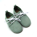 White Dots Rubber Sole Kids Oxford Shoes