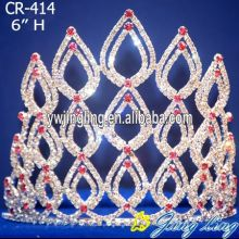 "6"" Red pageant tiaras and crowns"
