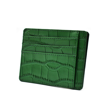 Custom Logo Embossed Credit Card Holder