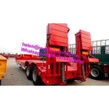 Side extension tri-axle 60 tons low bed trailers