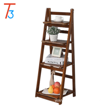 Modern home display rack wooden shelf flower stand