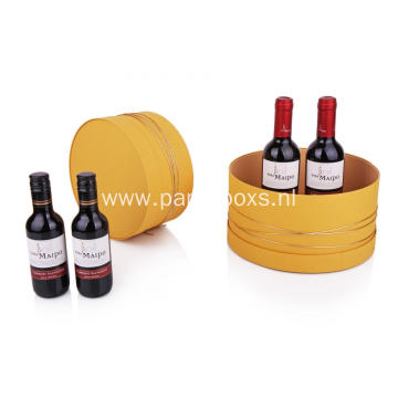 Custom Wine Gift Round Hat Box Packaging Wholesale