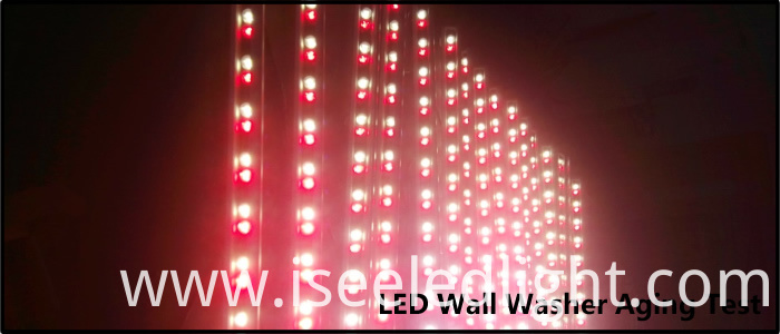 Red Color wall washer outdoor